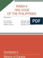 Fire Code and Plumbing Code