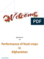 Performance of food crops in  Afghanistan H-Seminar-II