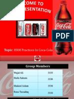 HR Practices in Coca Cola