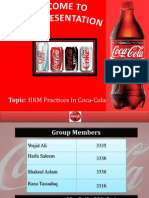 HR Practices in Coca Cola
