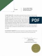 Notarial Copy of Trusteeship Order