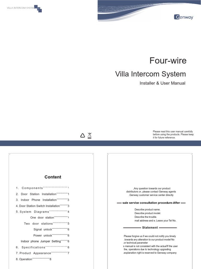 Instrukcja Eng Telephone Power Supply 3 Wire Intercom Systems Wiring Diagram