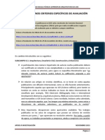 Modificacións nos criterios específicos de avaliación (novembro 2013)