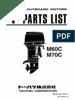 Tohatsu Parts Catalogue MD40B MD50B MD70B & MD90B