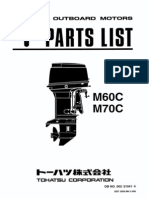 Tohatsu Parts Catalogue M60C & M70C