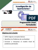 T1.3 IO I - UPN - Programación Lineal - Formulación