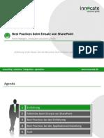 Best Practices beim Einsatz von SharePoint