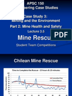 APSC150 - Lecture 3.5 - Mine Rescue at UBC