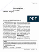 Israeli Cephalometric Standards Compared to Downs and Steiner