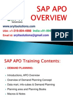 SAP APO ONLINE TRAINING | SRYIT SOLUTIONS
