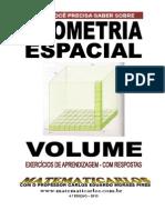 Volume - Exercicios de Aprendizagem com respostas