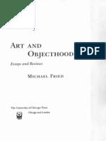 Fried - Art and Objecthood