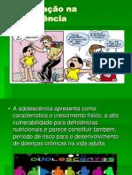 Alimentação na adolescência slide