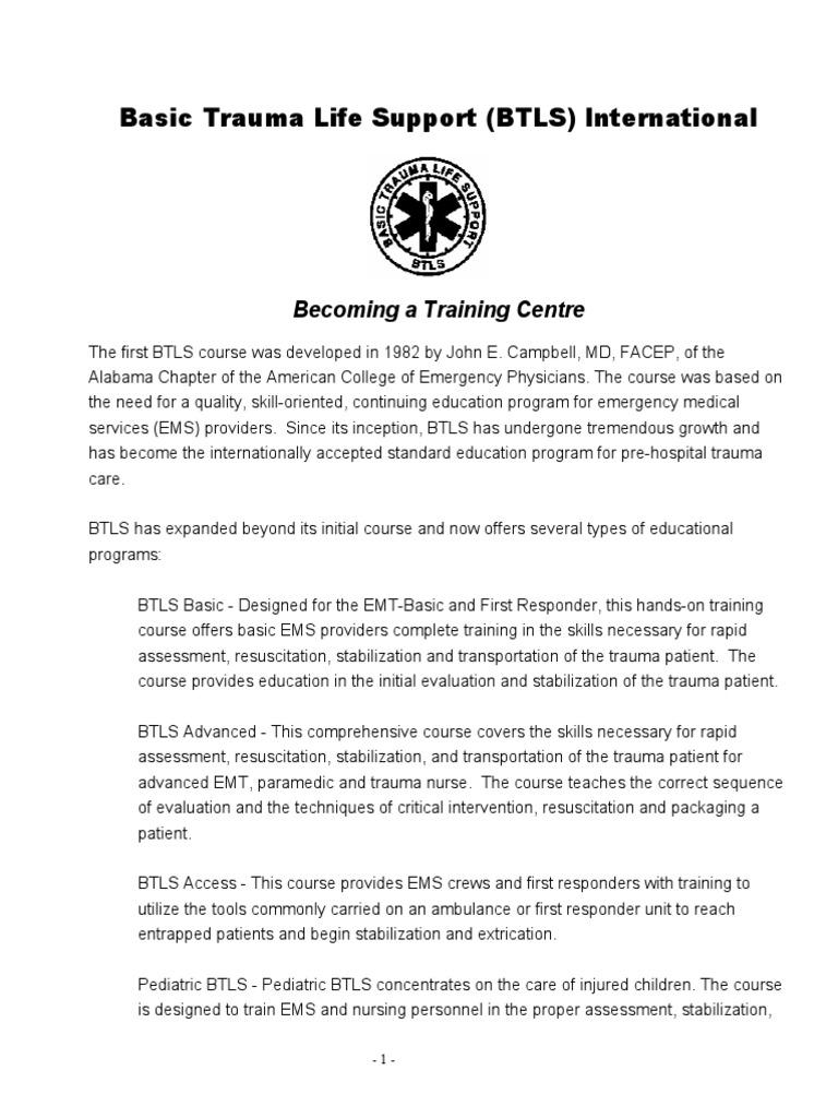 Bt Ls Training Centre Emergency Medical Services Public Health