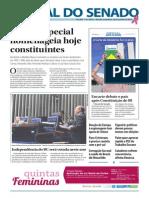 Jornal do Senado Brasileiro - Comemoração da Constituinte Brasileira