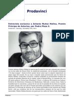 Una Conversacion Con Antonio Munoz Molina Premio Principe de Asturias de Las Letras 2013 Por Pedro Plaza Salvati
