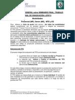 Informacion Sobre Seminario Final, TFG y EFIP II 2012 - Noviembre 2012