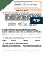 PROVA    IV UNIDADE -  BIOOLOGIA 1º ANO B - C   VESPERTINO