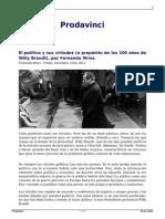 El Politico y Sus Virtudes a Proposito de Los 100 Anos de Willy Brandt Por Fernando Mires