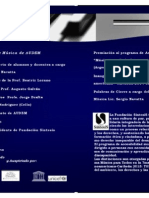 FUNDACIÓN SÍNTESIS (ARGENTINA) - PREMIACIÓN A MÚSICA PARA TODOS AUDEM (URUGUAY) Y LANZAMIENTO CAMPAÑA 2014