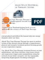 Thaï-Yoga Massage Spa in Montreal- Aliyah Massage Therapy Centre