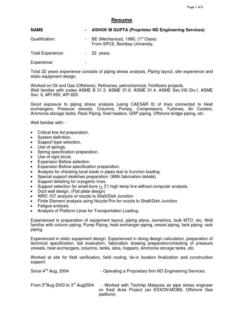 Amg Resume Heat Exchanger Hvac Piping Layout Of