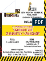 Cartel Congreso Criminologia