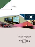 previsioni unione petrolifera 2010-25