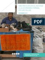 Obstáculos en el acceso a la economía formal