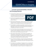 Credit Cycles and Sustainability in Growth and Emerging Markets