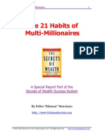 21 Habits of Multi Millionaires by Fabio Marciano