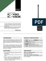 IC-V80 V80E Manual