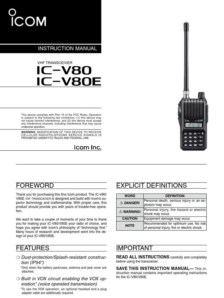 ic v80 manual product user guide instruction u2022 rh testdpc co icom v80 manual portugues icom ic-v80 manual
