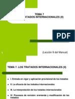 Tema 7. Los Tratados Internacionales (II)