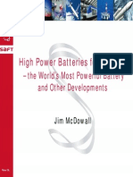 High Power Batteries for Industries