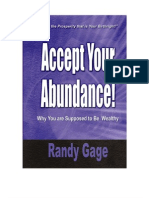 Accept Your Abundance by Randy Gage