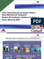 Admin Gastos, Fletes y Datos Maestros Transporte