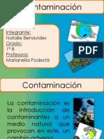 Diapositivas de La Contaminacion