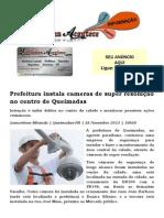 Prefeitura instala cameras de super resolução no centro de Queimadas