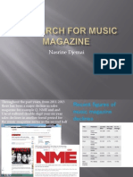 Research for Music Magazine