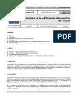 NPT 007-11-Separacao Entre Edificacoes-Isolamento de Risco