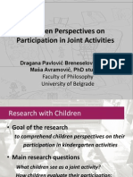 Children Perspectives on Participation in Joint Activities