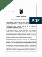 RESOLUCIÓN BACHILLERATO A DISTANCIA 2012-2013