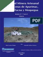 Actividad Minera Artezanal en Apurimac, Cuzco, Tacna y Moquegua, 2008