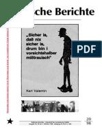 Politische Berichte Nr.20 / 1998