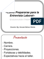 UBB - Taller Entrevista Laboral
