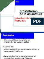MDD2201-00 - Introduccion a La Asignatura