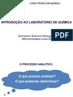 Introdução ao Laboratório de Química (O Processo Analítico)