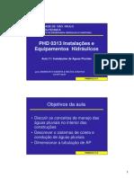 10 PHD 0313 Aula 11 Aguas Pluviais