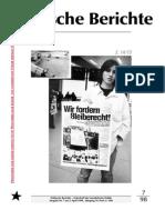Politische Berichte Nr.7 / 1998